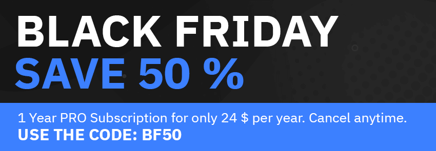 Black Friday Sale: Use code BF50 so save 50%