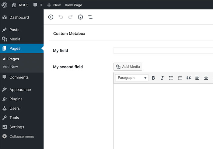 Custom Meta Box & Fields in WordPress
